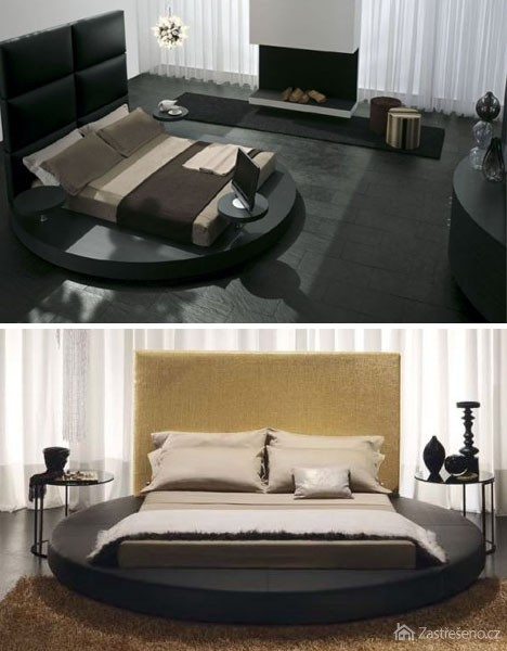 In pir cia pre modern sp lne for Round bed design images